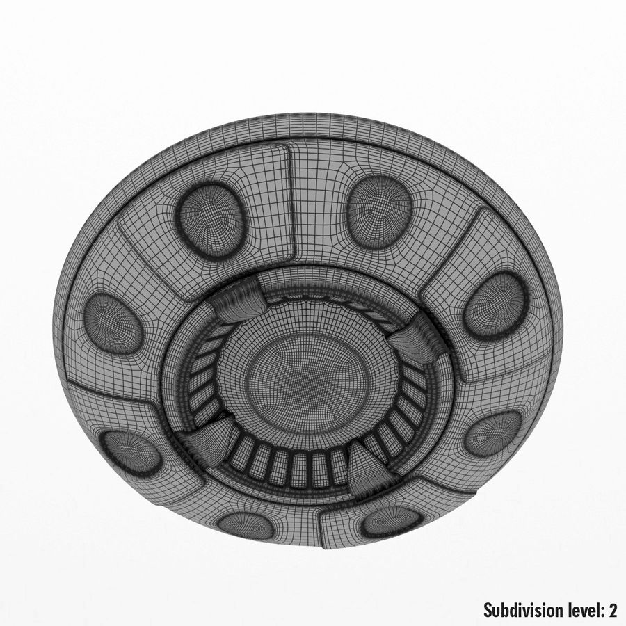UFO Cartoon Style royalty-free 3d model - Preview no. 17