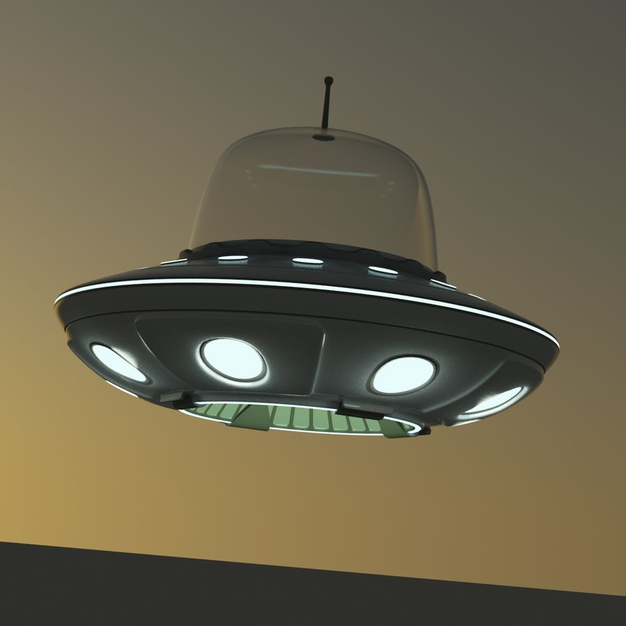 UFO Cartoon Style royalty-free 3d model - Preview no. 13