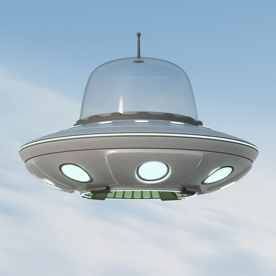 UFO Cartoon Style royalty-free 3d model - Preview no. 2