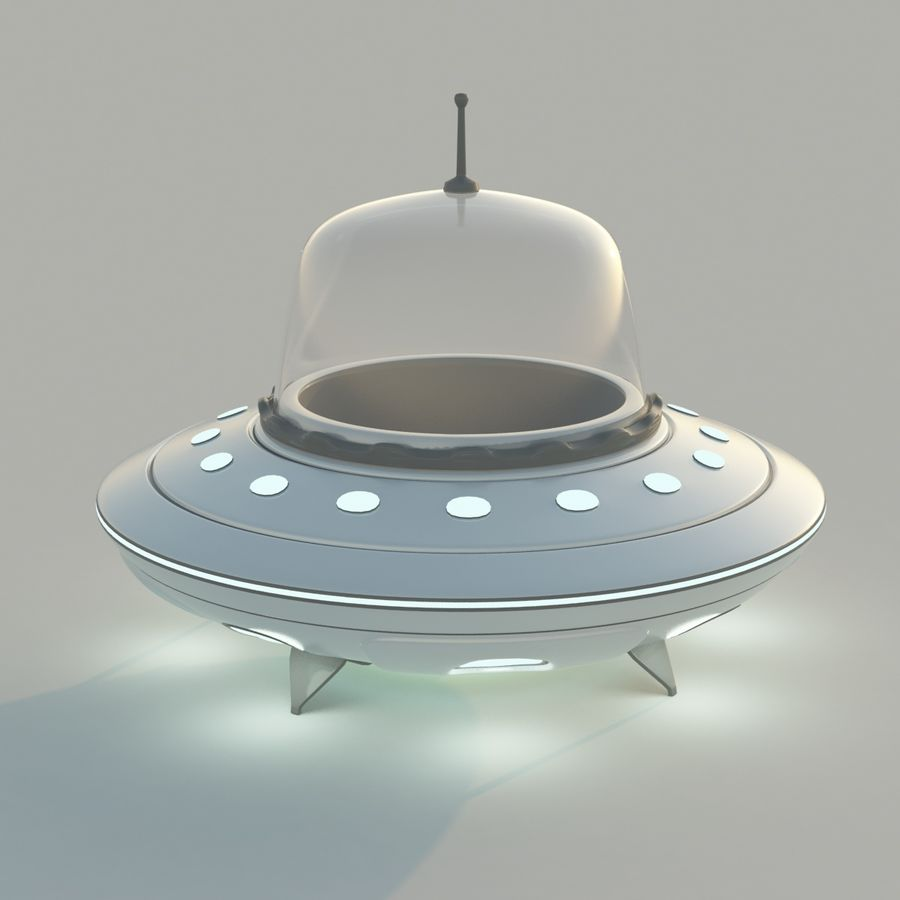 UFO Cartoon Style royalty-free 3d model - Preview no. 7