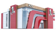 kfc restaurent 3d model
