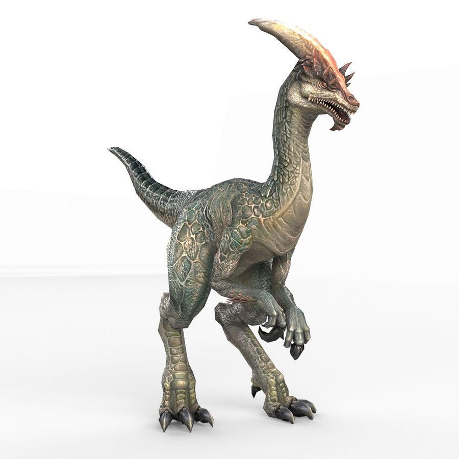 Velociraptor royalty-free 3d model - Preview no. 1