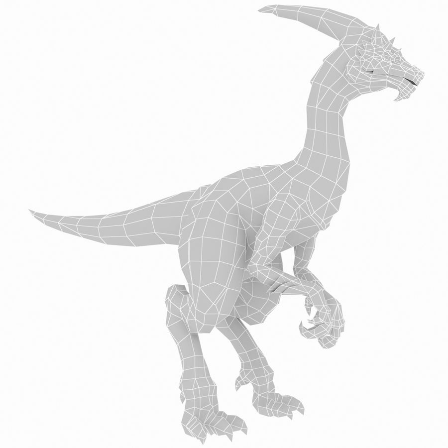 Velociraptor royalty-free 3d model - Preview no. 7