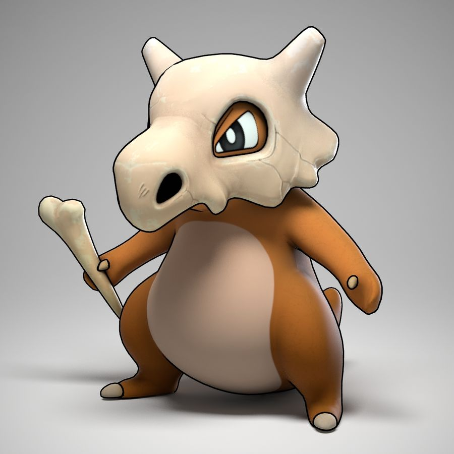 Cubone Pokemon royalty-free 3d model - Preview no. 1