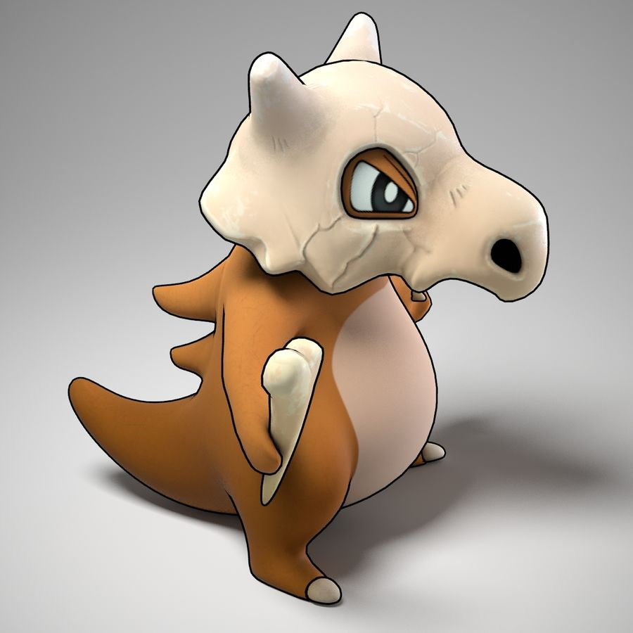 Cubone Pokemon royalty-free 3d model - Preview no. 2