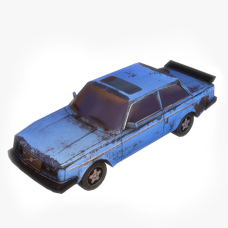 Rusty Car Collection royalty-free 3d model - Preview no. 4