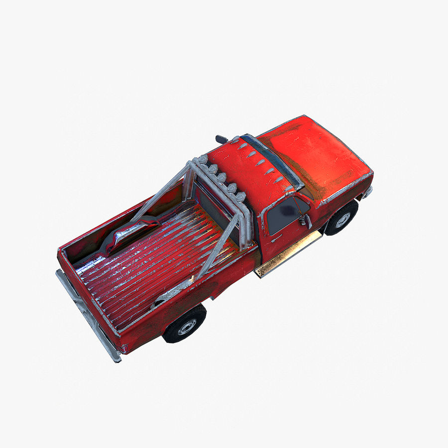 Rusty Car Collection royalty-free 3d model - Preview no. 19