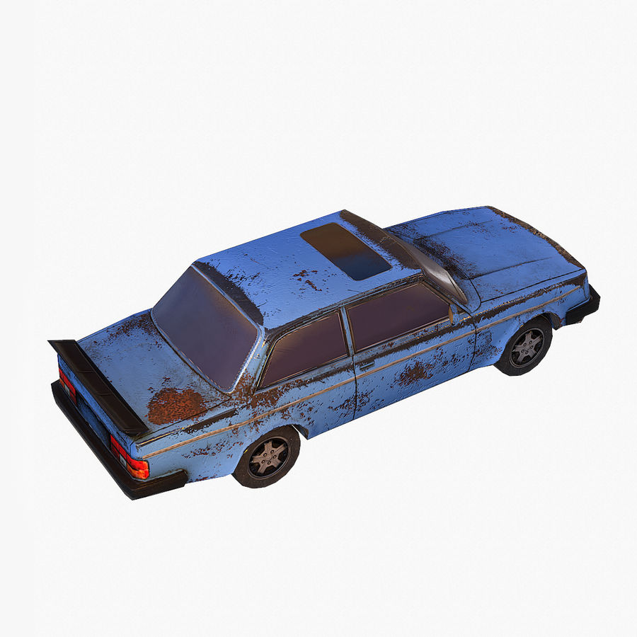 Rusty Car Collection royalty-free 3d model - Preview no. 10