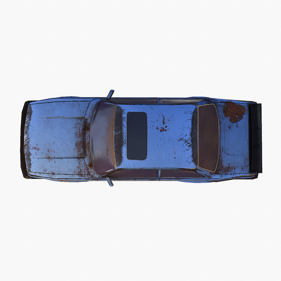 Rusty Car Collection royalty-free 3d model - Preview no. 18