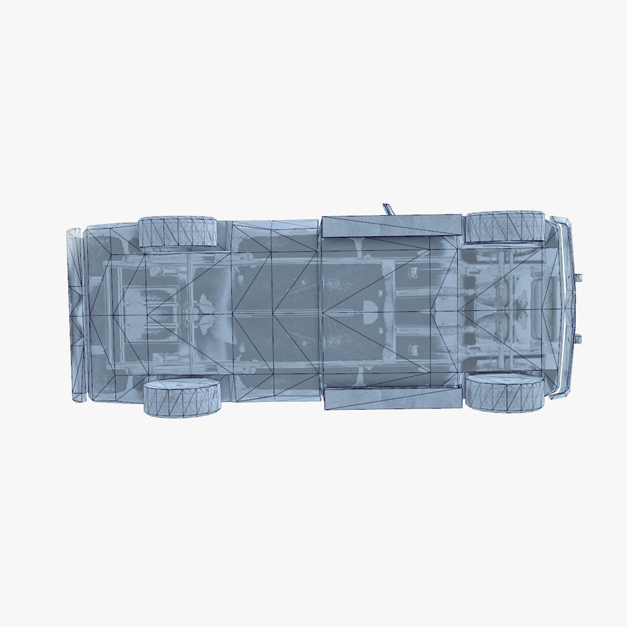 Rusty Car Collection royalty-free 3d model - Preview no. 43