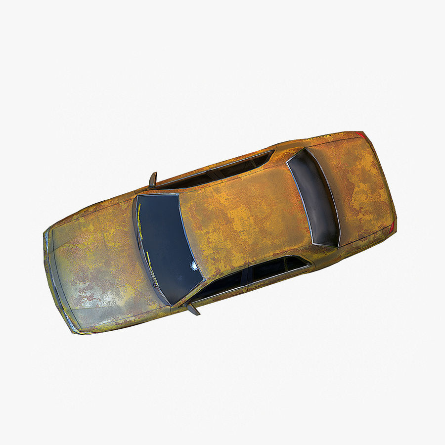 Rusty Car Collection royalty-free 3d model - Preview no. 38