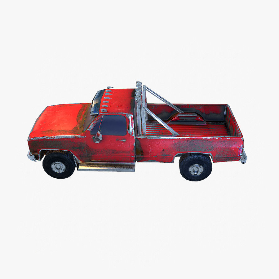 Rusty Car Collection royalty-free 3d model - Preview no. 15