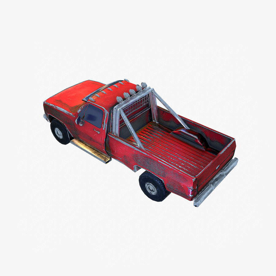 Rusty Car Collection royalty-free 3d model - Preview no. 16