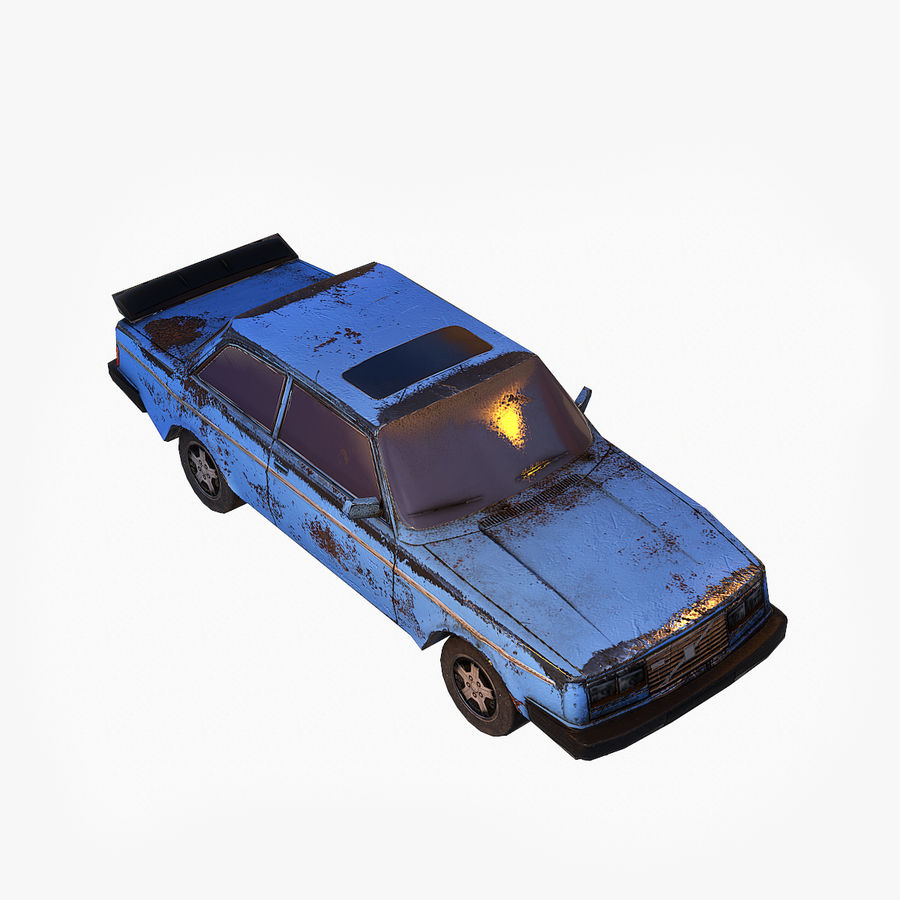 Rusty Car Collection royalty-free 3d model - Preview no. 9