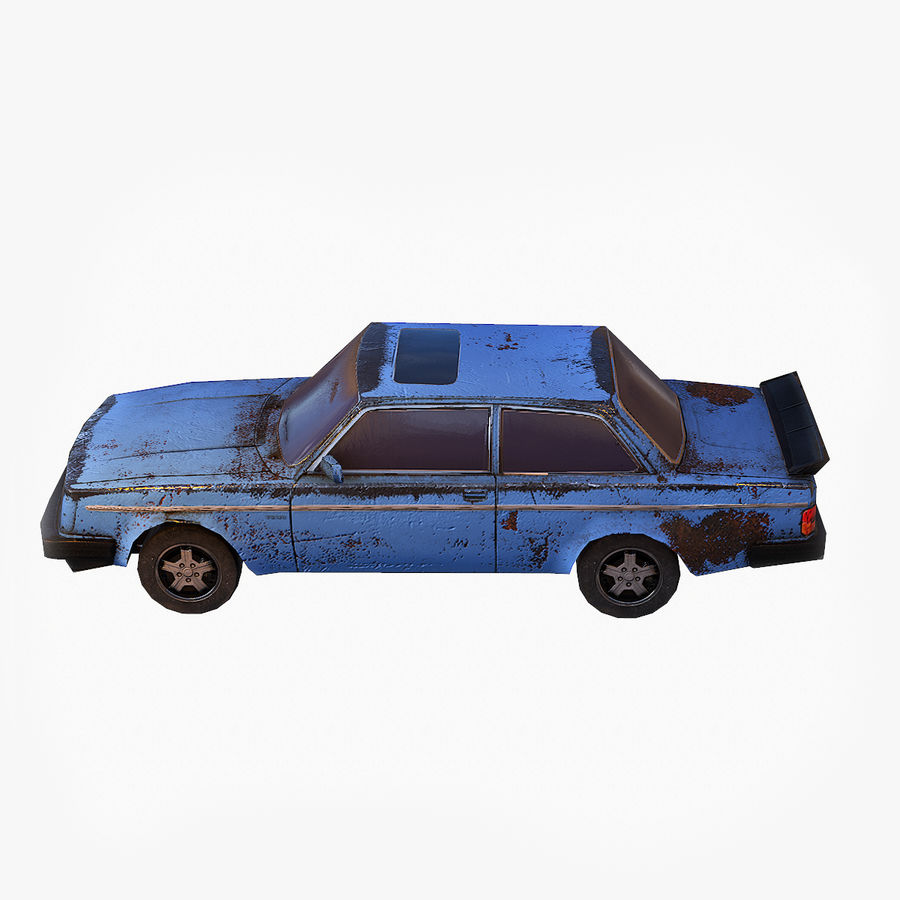 Rusty Car Collection royalty-free 3d model - Preview no. 8