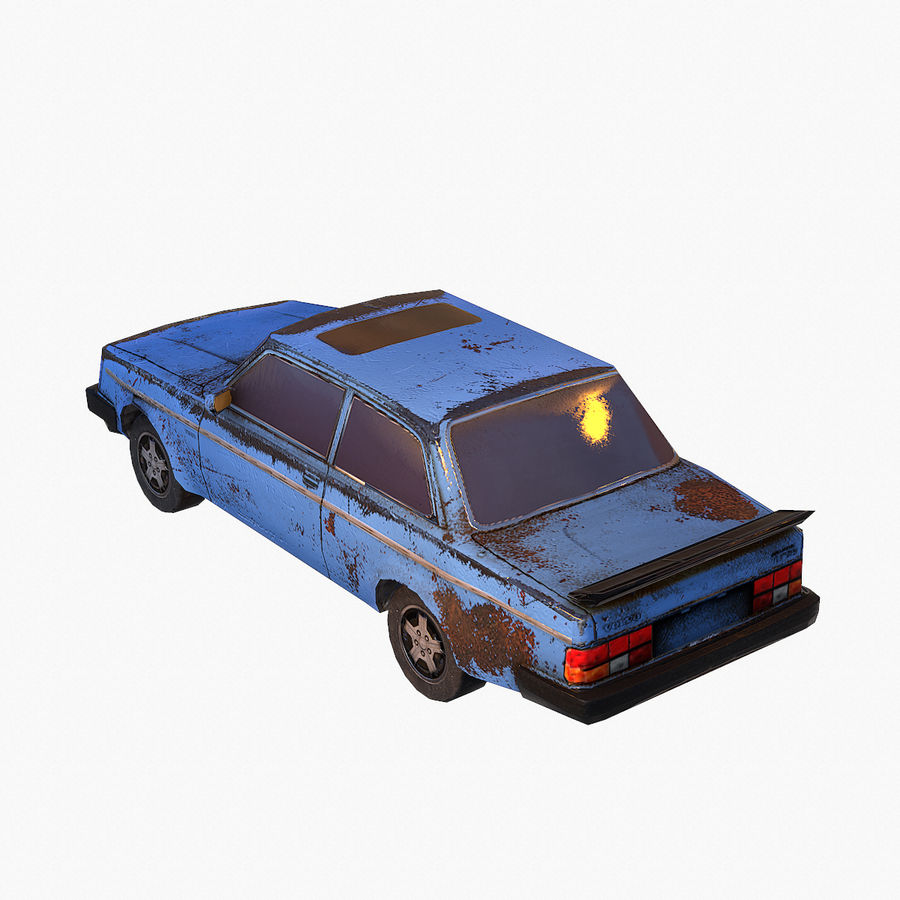 Rusty Car Collection royalty-free 3d model - Preview no. 13
