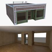 Backsteinbau fünf mit voller Innenausstattung 3d model