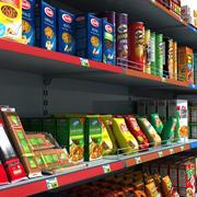 Supermarket Shelves Pack 3d model