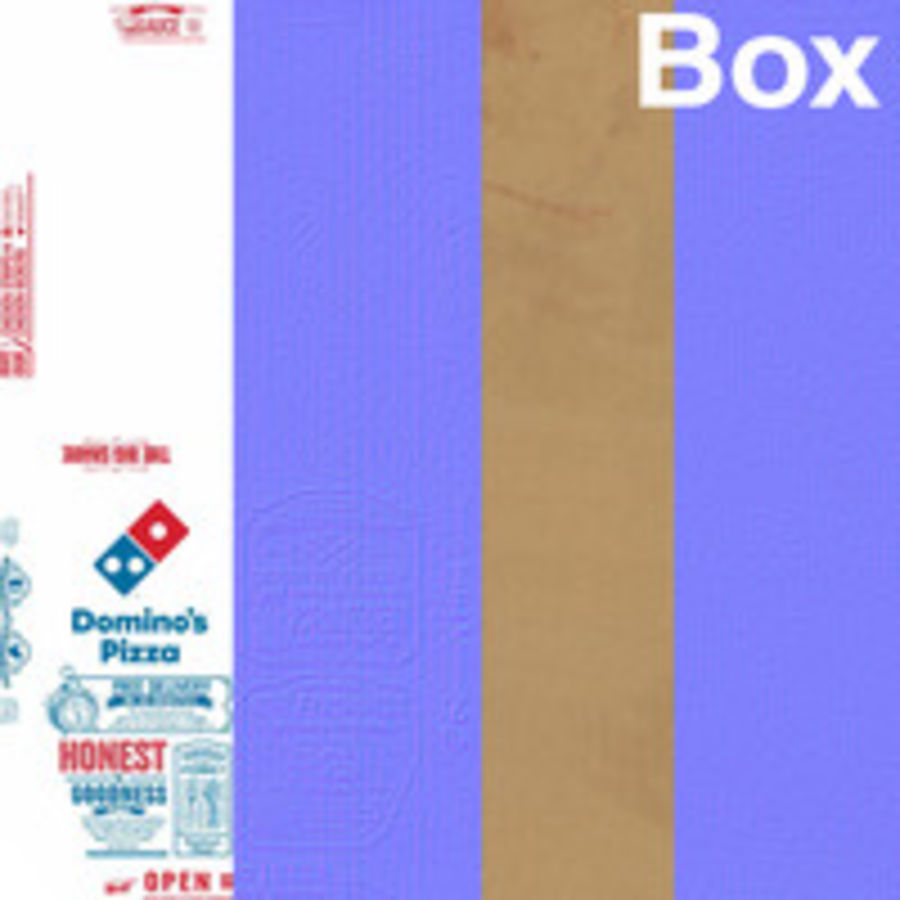 Käse-Pizza mit Box royalty-free 3d model - Preview no. 10