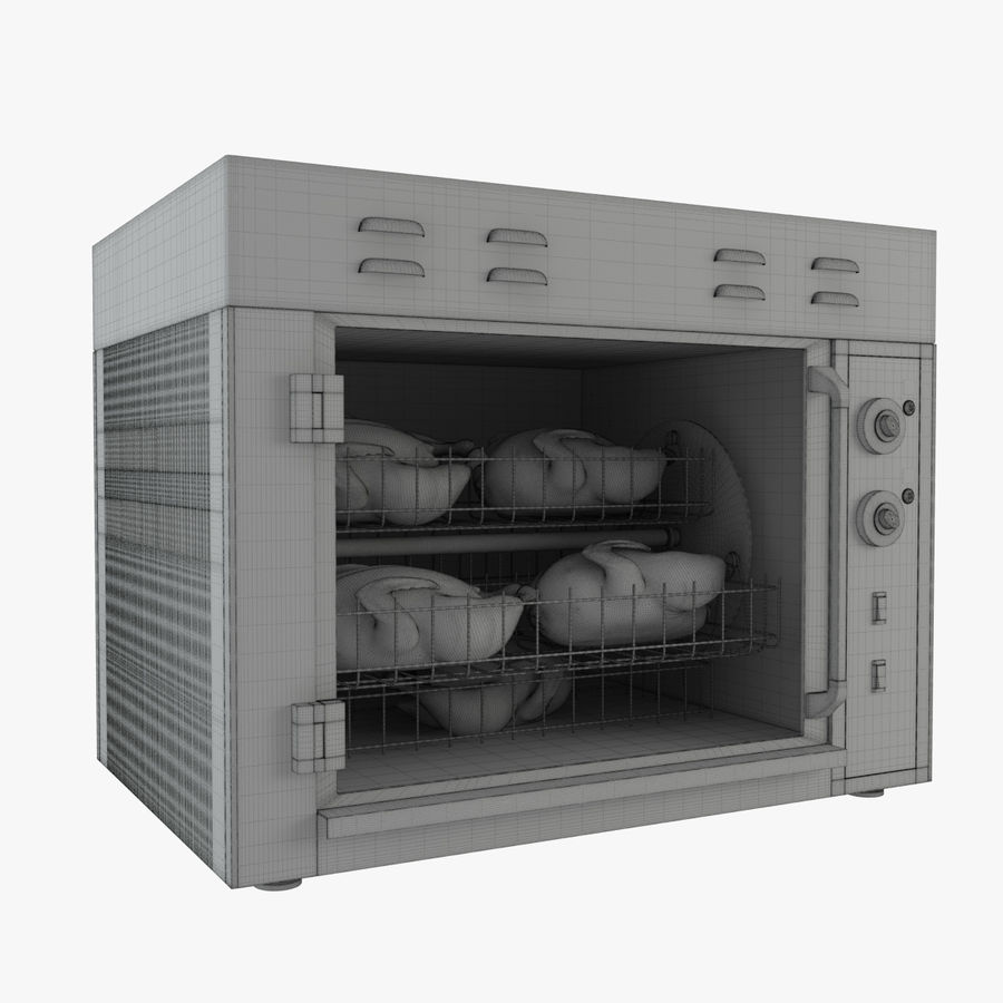 Rotisserie Oven royalty-free 3d model - Preview no. 7