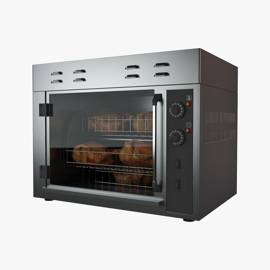 Rotisserie Oven royalty-free 3d model - Preview no. 1