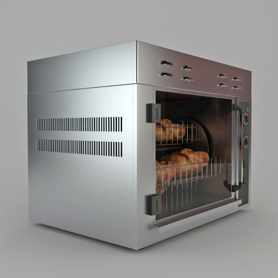Rotisserie Oven royalty-free 3d model - Preview no. 4