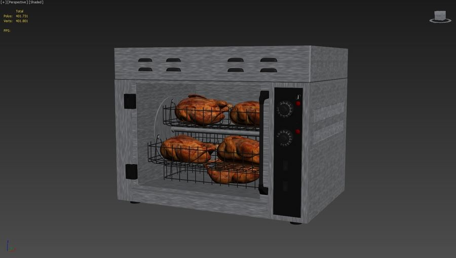 Rotisserie Oven royalty-free 3d model - Preview no. 9
