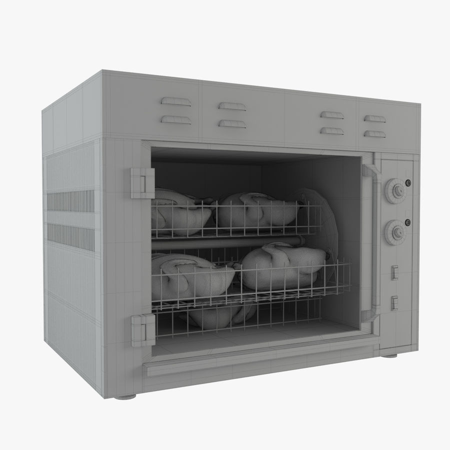Rotisserie Oven royalty-free 3d model - Preview no. 6