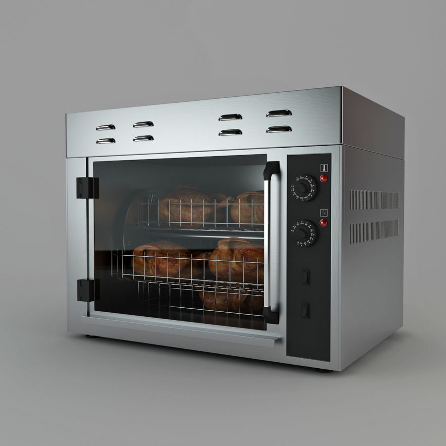 Rotisserie Oven royalty-free 3d model - Preview no. 2