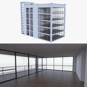 公寓楼两层,内部装满 3d model