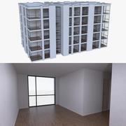公寓楼四室内装满 3d model