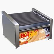 Hot Dog Roller Grill 3d model