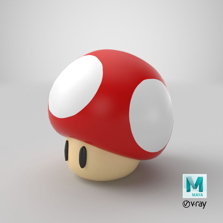 Grzyb royalty-free 3d model - Preview no. 18