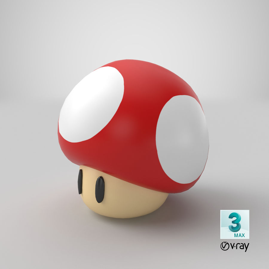 Grzyb royalty-free 3d model - Preview no. 20