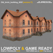 Lowpoly two-floor old brick building - old_brick_building_003f.rar 3d model