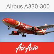空中客车A330亚洲航空 3d model