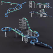 Parque aquático slides4 3d model