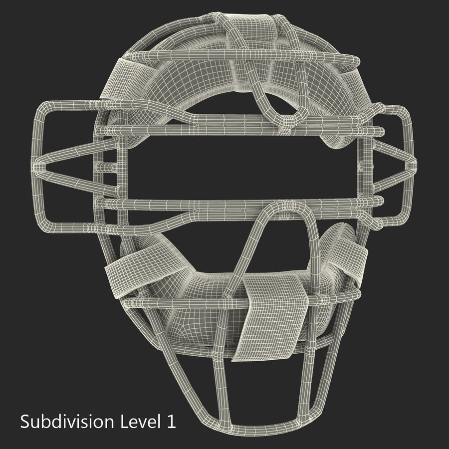 Catchers Face Mask Generic royalty-free 3d model - Preview no. 17