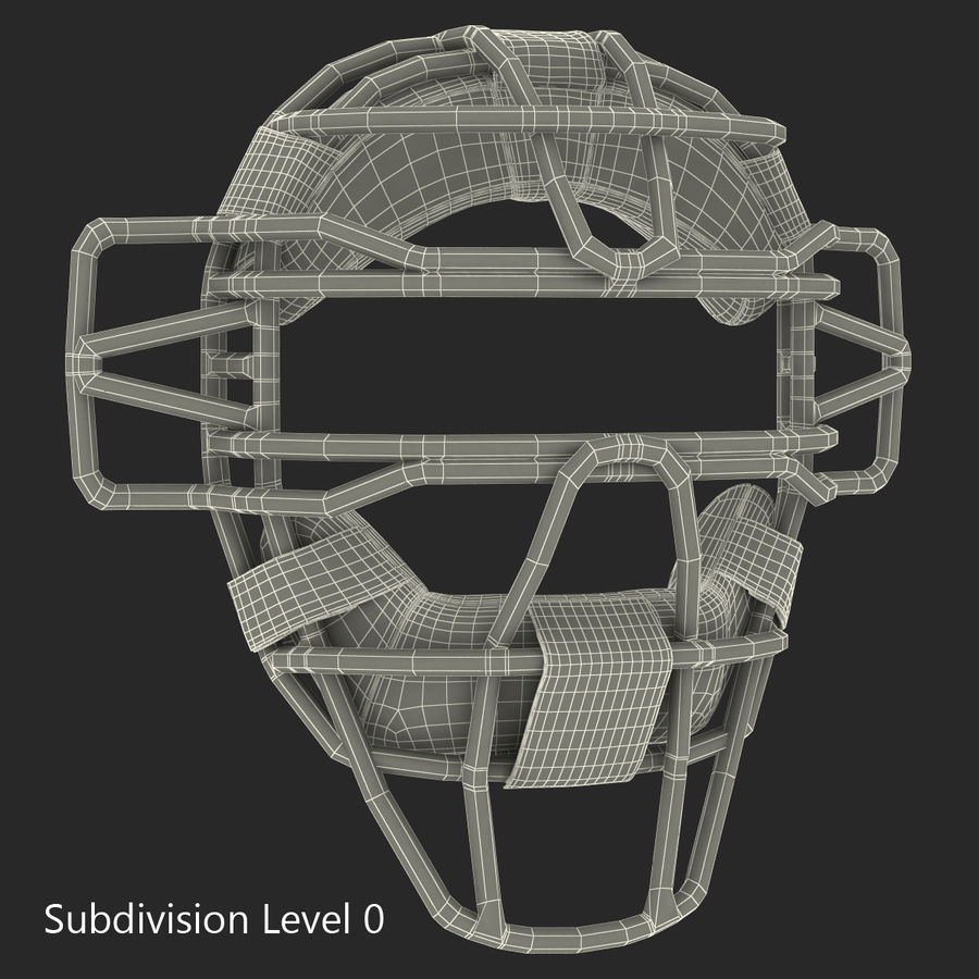 Catchers Face Mask Generic royalty-free 3d model - Preview no. 16