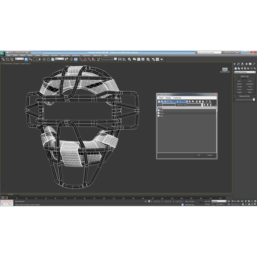 Catchers Face Mask Generic royalty-free 3d model - Preview no. 20