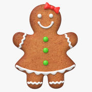 Gingerbread Cookie 1 3d model