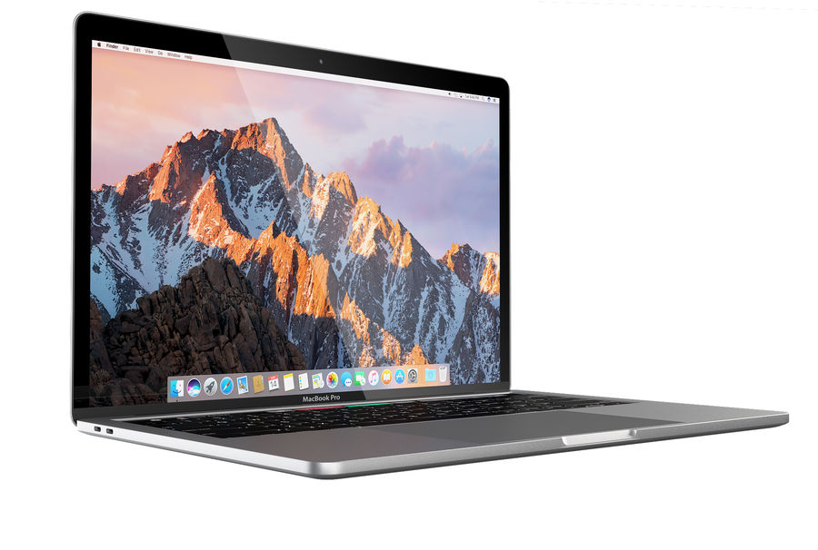 Apple MacBook Pro 2016 13 '15' royalty-free 3d model - Preview no. 5