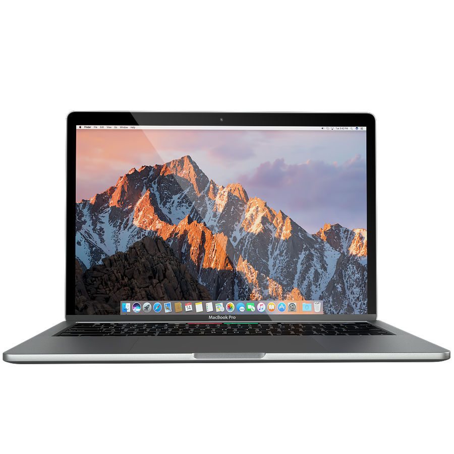 Apple MacBook Pro 2016 13 '15' royalty-free 3d model - Preview no. 7