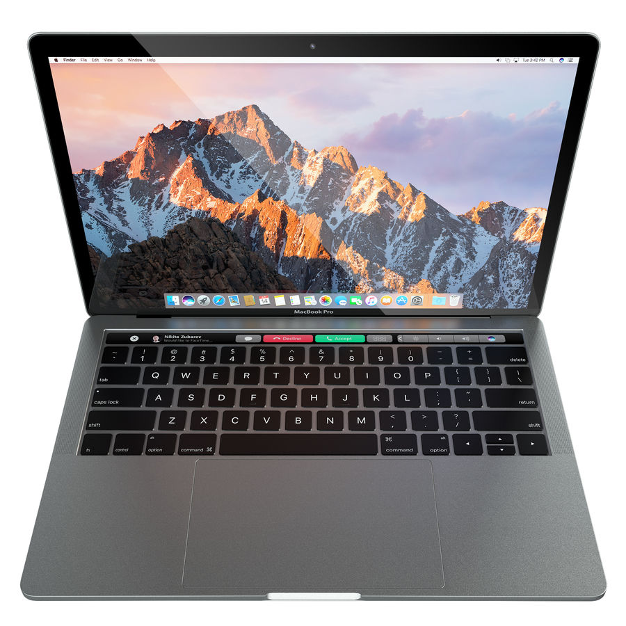 Apple MacBook Pro 2016 13 '15' royalty-free 3d model - Preview no. 4