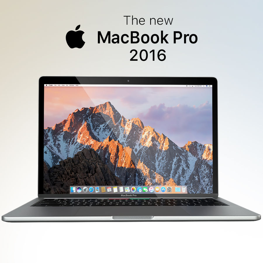Apple MacBook Pro 2016 13 '15' royalty-free 3d model - Preview no. 1