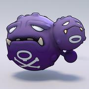 Weezing Pokemon 3d model