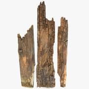 Weathered Rotten Planks Short 3d model