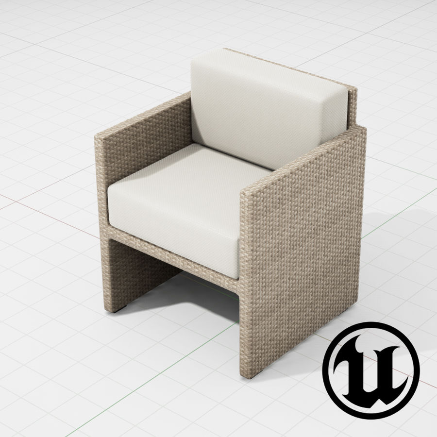 Patio Furniture 002 Chair 002 Ue4 3d Model 29 Upk Fbx