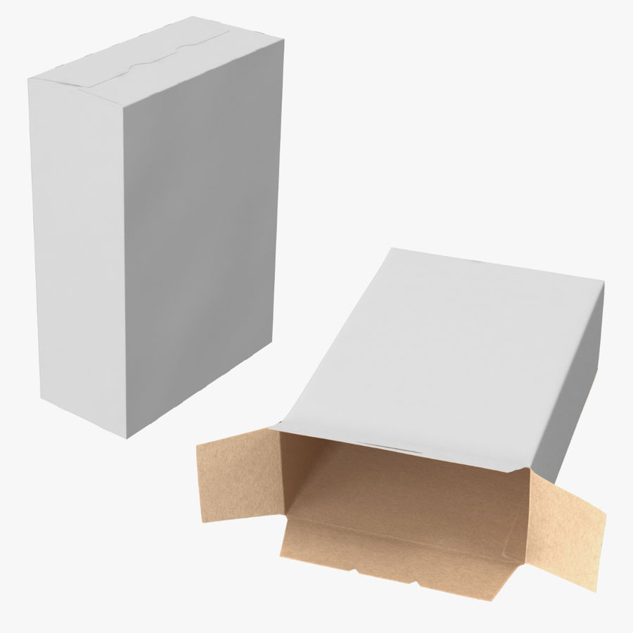 谷物盒打开和关闭 royalty-free 3d model - Preview no. 1