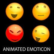 Geanimeerde Emoticon 3d model